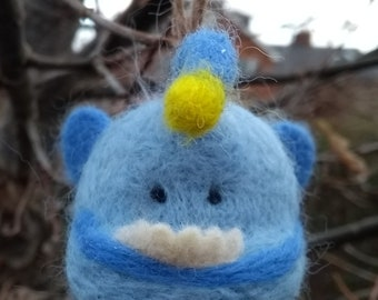 Needle felted Hanklerfish -ornament, decoration, soft sculpture, collectable