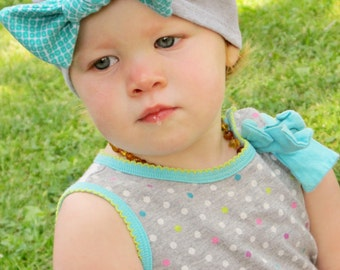 Beanie Pattern Pattern Tutorial Knit BOW Turban Hat 3 months through ladies Instant