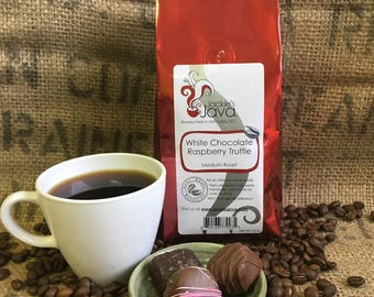 Gourmet Coffee / Flavored Coffee / White Chocolate Raspberry Truffle / Gourmet Food Gift / specialty coffee / Gift Ideas for Mom / ground