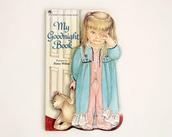 Vintage shaped board book: My Goodnight Book, 1981