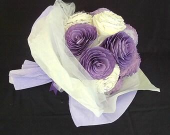 Flower Bouquet - Gift bouquet - Paper peony bouquet - First anniversary - Paper flower bouquet - Sympathy bouquet - Congratulation flowers