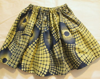 Wax fabric skirt, 4 year old girl