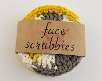 Eco Friendly Reusable Face Scrubby, Reusable Makeup Remover Pads, Cotton Face Scrubby