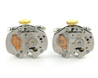 Industrial Design Vintage Watch Movement Steampunk Cuff Links