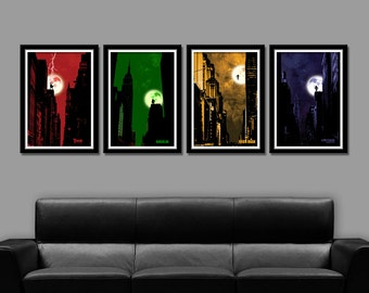 Avengers Inspired Minimalist Movie Poster Set - Black Version - Home Decor