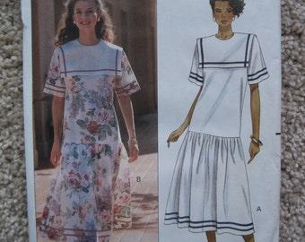 UNCUT Misses Dress - Butterick Sewing Pattern 4713 - Vintage 1990