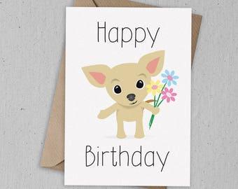 Chihuahua Birthday Card Greetings Card