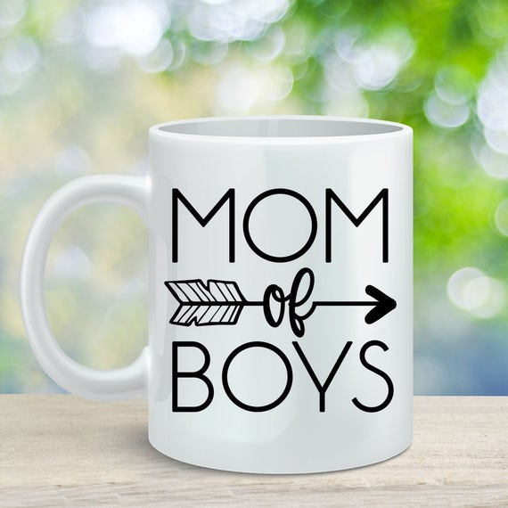 Mom of Boys Coffee Mug, Gift for Mom, Mother's Day Gift