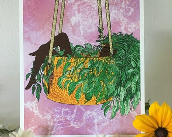 Art Print • 'Hanging In There' • by Madison Ross