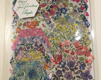SUMMER SALE! LIBERTY of London hexagons for English paper piecing patchwork