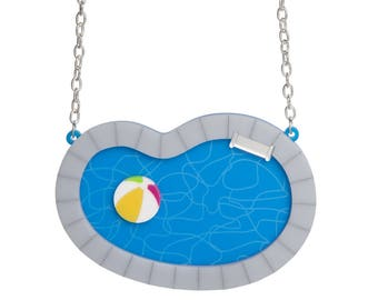 Swimming Pool necklace - laser cut acrylic