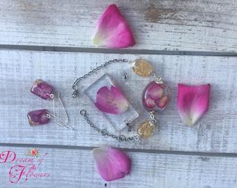 Set Rose & Yellow flowers-resin/Pink Sets