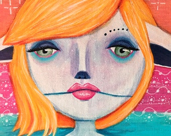 Orla the Water Sprite - An Original Painting by Catherine Wolf