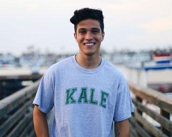 Kale short sleeve tee-shirt in heather gray