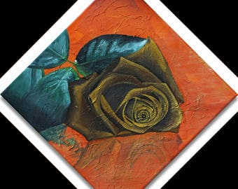 Classy: Acrylic Painting, Home Decor, braun flower painting color by Manaldernaykaart