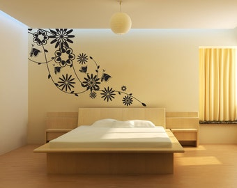 Vinyl Wall Decal Sticker Springtime Vines 1021s