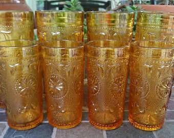 Gorgeous set of 8 Brockway American Concord Tumblers and Juice Glasses