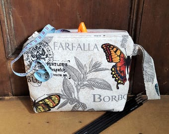 Butterfly Notion Pouch, Coin Purse, Project Bag, Travel Pouch, Cosmetic Bag