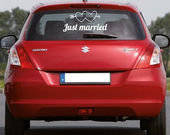 Stickers wedding Just married
