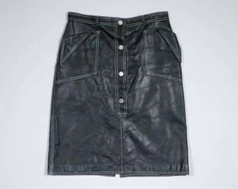 BOTTEGA VENETA - Leather skirt