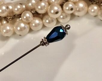 Scarf pin hijab pin hat pin royal blue