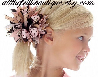 How to Make Funky Loopy Hair Bows .... Boutique Instructions Guide Pattern ... Receive Today