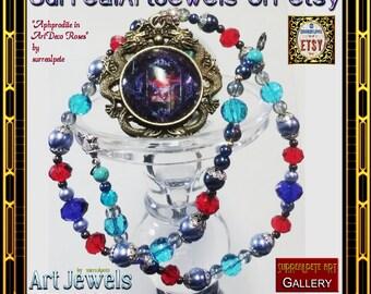 Unique Art Jewel Necklace : Handmade Jewelry - large 30mm pendant