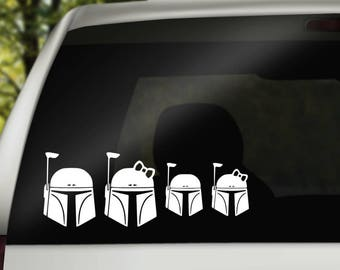 Star Wars Inspired Boba Fett Family Decals
