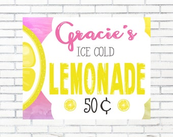 Custom Lemonade Stand Sign, Digital Download