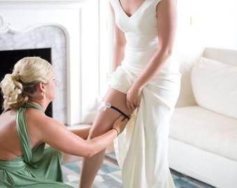 Navy Lace Garter, Lace Wedding Garter Set, Lace Garter, Vintage Garter set, Keepsake Garter set, lace bridal garter, pearl lace garter set