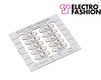 Electro-Fashion, LED Board, Green Sewable Electronics e textiles e-textiles sewable green leds x 10