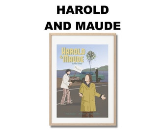 Harold and Maude Movie Print - Poster Hal Ashby A3