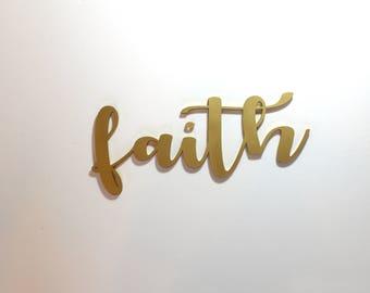 Faith Acrylic Sign