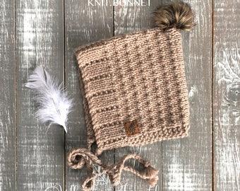 Pearl Pixie Bonnet [] Knit Pixie Bonnet [] Pixie Hat [] Knit Bonnet []  Gnome Hat