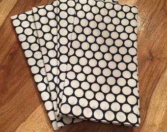 Navy with White dot napkins-Set of 2 or 4