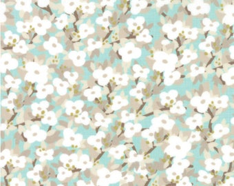 Moda Fabrics - Lullaby Bloom Cloud Aqua by Kate & Birdie Paper Co.