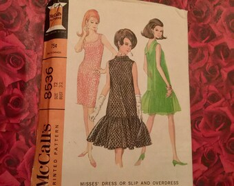 60's Vintage Mccalls Sheath Dress Sewing Pattern