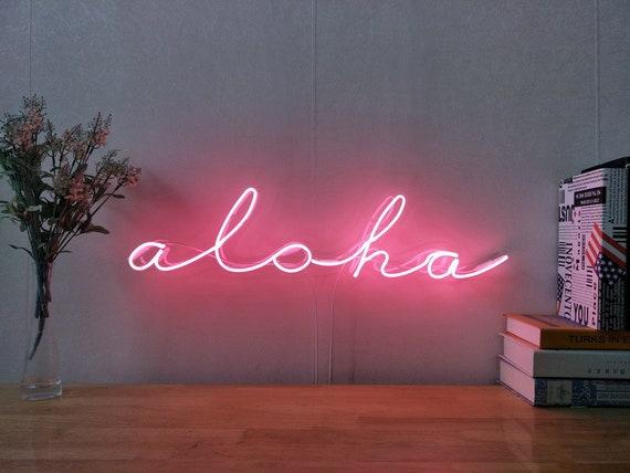 Hawaii Aloha Neon Sign For Tiki Bar Living Room Bedroom Home