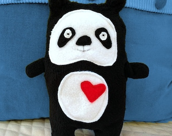 Paulie ~ The Panda Bummlie ~ Stuffing Free Dog Toy ~ Ready To Ship Today