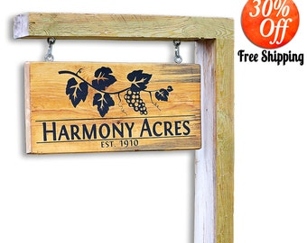 reflective address signs.lawn address plaques.wall address plaques.Yard Sign Personalized.Garden Sign.House Signs.Christmas Gift (Yard Sign)