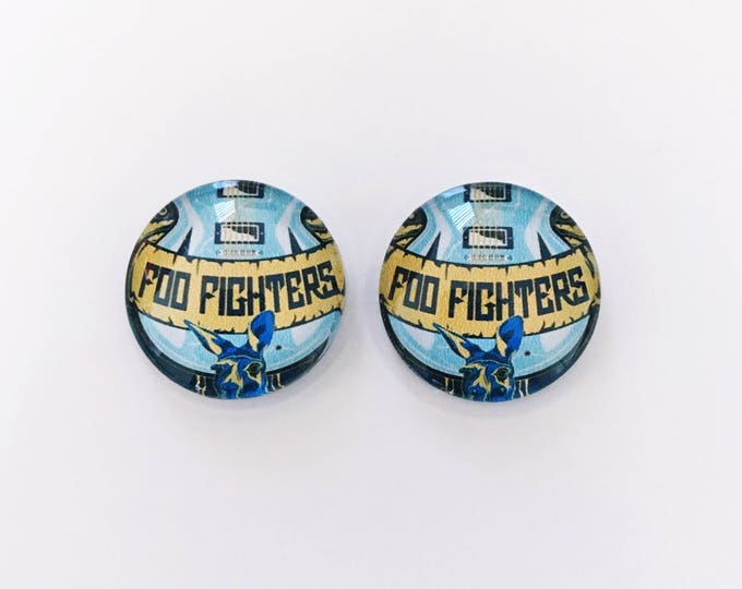 The 'Foo Fighters' Glass Earring Studs