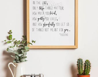 Buddha Quote Printable Quote Downloadable Art-Buddha Quote Typography Print Wall Art Decor