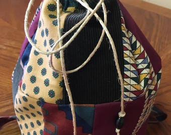 Hippie Patchwork Boho Backpack Purse