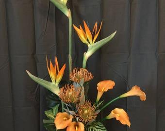 TROPICAL SUNSET /Lasting Florals arrangement