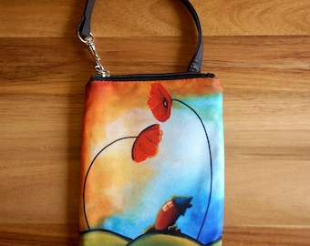 Hello - by Cindy Thornton Art - Smart Bag Mini Wristlet