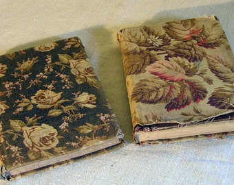Old Fabric Covered Books