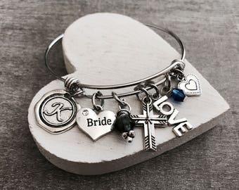 Something old, Something new, Something borrowed, Something blue, BRIDAL SHOWER, Bride to Be, Wedding, Bangle, Silver Bracelet, Gifts for