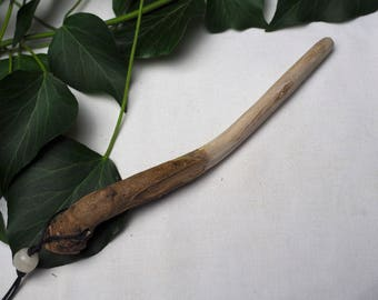 Mullein Wand Pendant Wiccan Wand - Fire Wand - Pagan, Wicca, Witchcraft, Herb