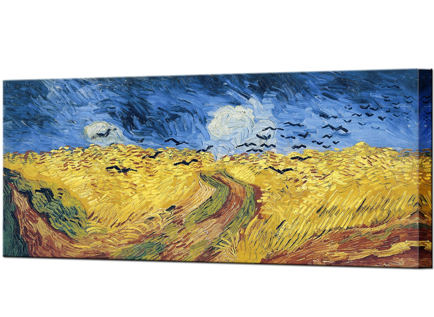 Van Gogh Wheat Field with Crows Wall Decor Canvas Print Canvas