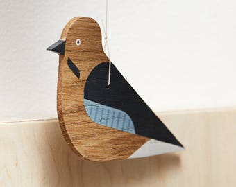 JAY BIRD- hanging decoration, baby room decoration, wooden decoration